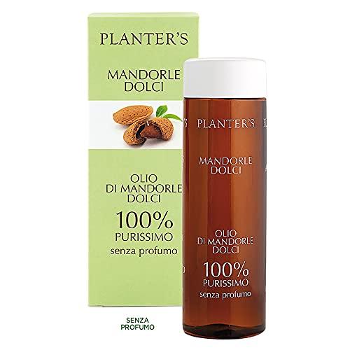 Planter's - Olio di Mandorle Dolci Puro al 100%. Ideale per prevenire smagliature e rendere la pelle elastica dopo la gravidanza, l'allenamento o durante la dieta. 200 ml