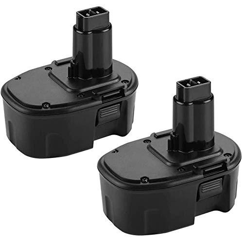 Forrat Upgraded 3.6Ah Replacement for Dewalt 14.4V Battery XRP Ni-MH DW9091 DW9094 DW935 DE9091 DE9092 DE9038 Compatible with Dewalt 14.4 Volt Cordless Power Tool 2 Packs