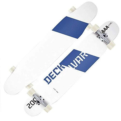 Baibao Skateboards 46 '' Professionale Doppiocalcio Dolcetto d'Acero Canadese Piattaforma con Il Sacchetto di Trasporto e di Protezione Gear Set di 6, Figli Adulti Teens (Color : B )