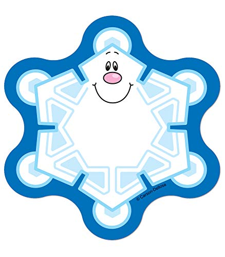 Carson Dellosa  Snowflakes Mini Colorful Cut-Outs, Classroom Dcor, 36 Pieces