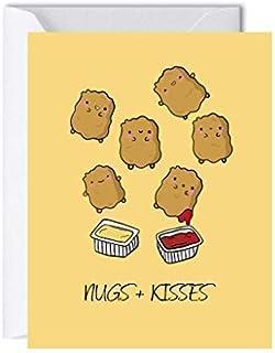 Chicken Nuggets Anniversary Card for Her Him, Birthday Card Boyfriend Girlfriend, Husband Wife Greeting Card