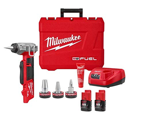 2532-22 M12 FUEL Cordless 3/8 in. - 1 in. PEX Expansion Tool Kit with (2) 2.0 Ah Batteries, (3) Rapid Seal Expansion Heads