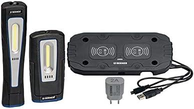 Berner Pocket DeLux en X-Lux draadloze LED werkplaatslampen inclusief inductie oplaadpad Duo. Extreem sterke helderheid!