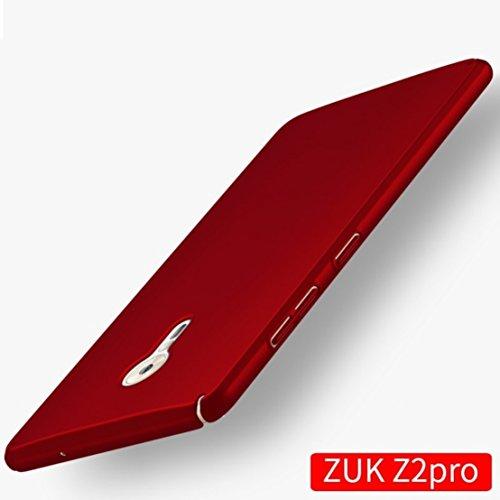 Apanphy ZUK Z2 Pro Hülle, Hohe Qualität Ultra Slim Harte Seidig Und Shell Volle Schutz Hinten Haut Fühlen Schutzhülle für ZUK Z2 Pro, Rot