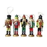 APcjerp del Cascanueces de Marionetas Rey Soldado niños de decoración de Interior de Madera Conjunto de Juguete Juego de 5 Piezas 12cm, A Hslywan (Color : A)
