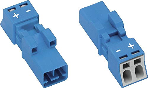 WAGO Netz-Steckverbinder WINSTA Mini Serie (Netzsteckverbinder) WINSTA Mini Stecker, gerade Gesamtpolzahl: 2 16 A Blau