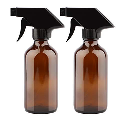 Uceoo - Botella de cristal para rociadores (2 unidades, 0.7fl oz), color ámbar