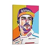 QWSDF Fernando Alonso Diaz Poster, dekoratives Gemälde,
