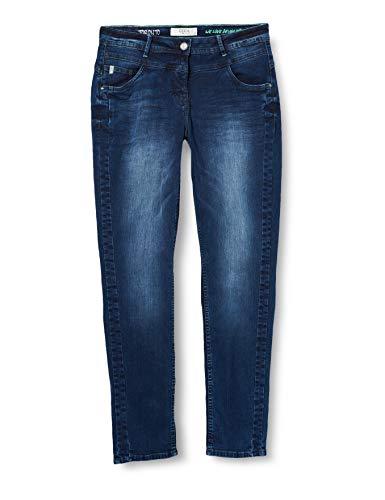 Cecil Damen Toronto Jeans, Mid Blue Wash 1, 38