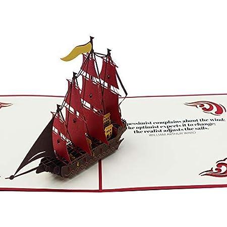 Nautical 3D Birthday Pop Up Card