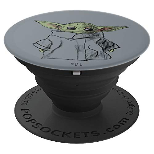 Star Wars The Mandalorian The Child Illustration PopSockets Grip and Stand for Phones and Tablets