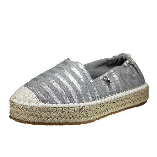 s.Oliver Damen 5-5-24204-32 Espadrilles, Grau (Grey Stripes 208), 38 EU