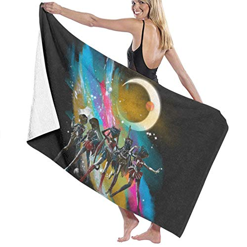 ghjkuyt412 Bath Towel,80X130Cm Sailor Moon Pretty Guardians of The Galaxy Bath Towels Super Absorbent Beach Bathroom Towels For Gym Beach SWM SPA