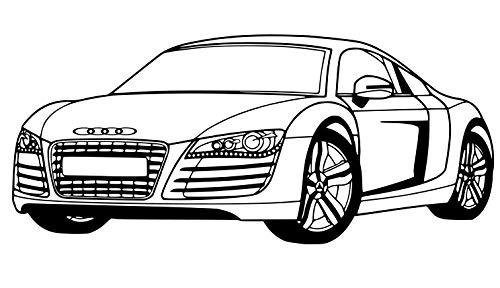 wall-decor Audi R8Wandtattoo Wand Deko für Audi Audi-Aufkleber für Wand Diagramm. Schwarz