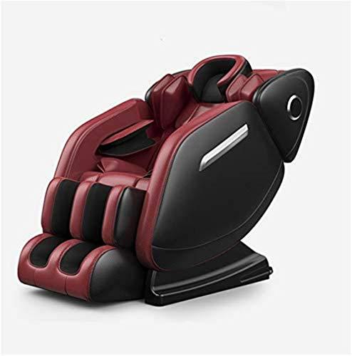 CLOTHES Sillas De Masaje Cuerpo Completo Y Reclinable, Masaje de Silla hogar Completo Amasado automático Inteligente pequeño sofá Silla eléctrica cápsula masajeador Multifuncional (Color : Red)