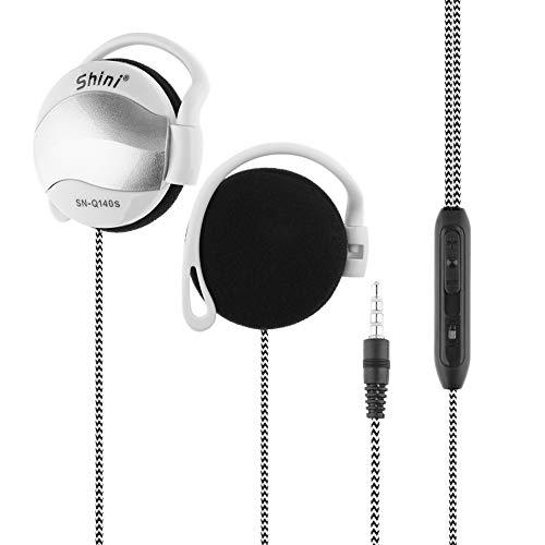 Clip In-Ear-Kopfhörer (besonders flach, leicht und angenehm zu tragen) für iPod, iPhone, MP3 und Smartphone (Silber)
