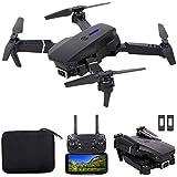 JJDSN Drone RC, FPV Drone con cámara 4K HD WiFi Video en Vivo, Qudcopter RC Plegable con Modo sin Cabeza, retención de altitud, Vuelo en Pista, FILP 3D, Negro, 2 baterías