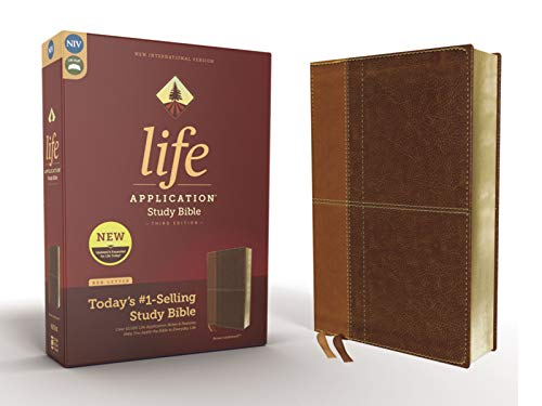 NIV, Life Application Study Bible, Third Edition, Leathersoft, Brown, Red Letter
