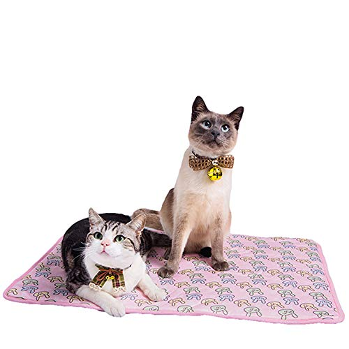 NACOCO Pet Cooling Mat Cat Dog Cushion Pad Summer Cool Down Comfortable Soft for Pets and Adults (S, Pink)