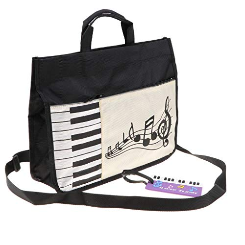 Tubayia Klavier Tastatur Handtasche Schultertasche Umhängetasche Messenger Bag für Studenten