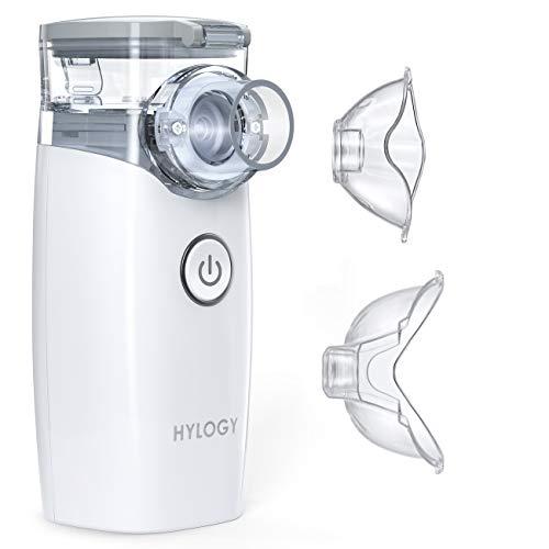 HYLOGY Inhalator Vernebler, Tragbar Vernebler, Inhalationsgerät Ultraschall, Inhalationsgeräte Kinder und Erwachsene, für Atemwegserkrankungen
