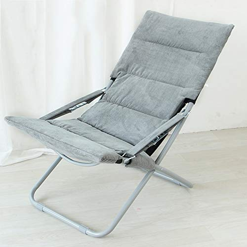 TriGold Verstellbarer Klappstuhl Komfortabel,tragbar Liegestuhl Mit High Back,Stabiler Liegestuhl Für Outdoor Camping Home Office Nap D