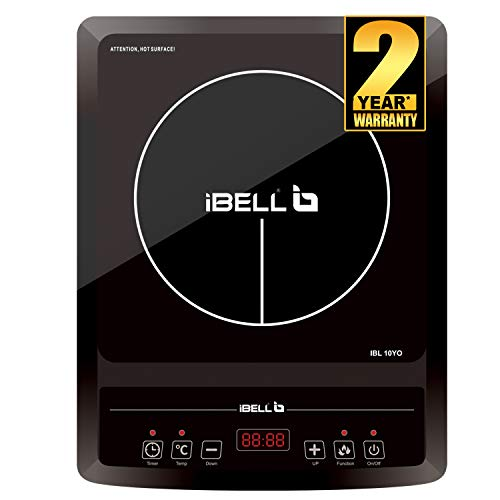 iBELL 2000 W Glass Induction Cooktop Cloud 850Y with Auto Shut Off and over Heat Protection (Black)