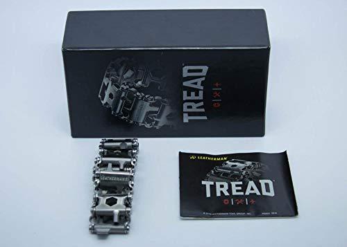 Leatherman Tread - Bracelet 29 outils multifonctions en acier inox avec clés allen, tournevis et bien plus encore ; pratique, portable et élégant, fabriqué aux Etats-Unis, couleur gris acier