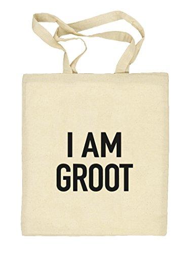 Shirtstreet24, I Am Groot, Serien Nerd Natur Stoffbeutel Jute Tasche (ONE SIZE), Größe: onesize,natur