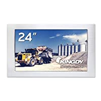 KINGDY WM240RS03 24インチFHD産業用ファンレスタッチパネルモニター M12コネクタ搭載 5線抵抗膜式タッチ対応 IP65/NEMA4準拠 6面防塵防水 304ステンレス製筐体