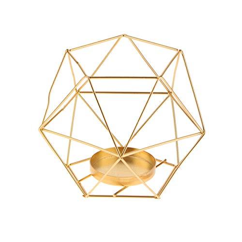 DZHTWSRYGR Candlestick Iron 3D Geometric Candlestick Nordic Style Forged Candlestick Candlestick