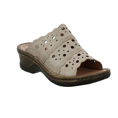 Josef Seibel Damen ClogsPantoletten Catalonia 43, Frauen Clogs, Slipper Slides Sandale sommerschuh freizeitschuh weibliche Lady,Creme,36 EU / 3 UK