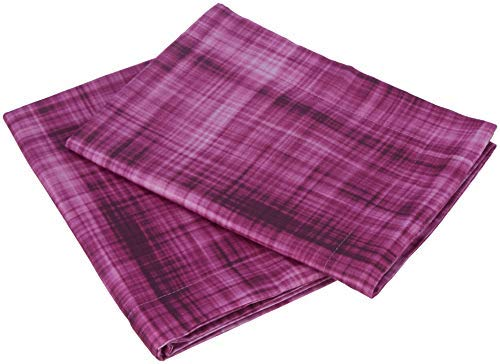 Shandaar Texpressions 2 Piece Cotton Pillow Cover Set - 16'x24', Magenta FZC#387