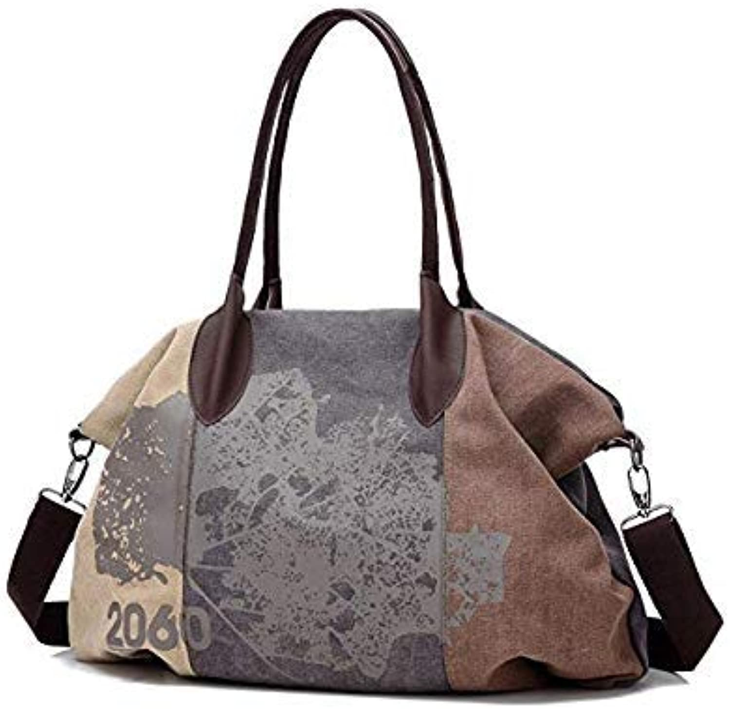 Bloomerang Women Canvas Bag Large Capacity Ladies Shoulder Bag Leisure Girls Handbag Rushed Crossbody Bags Brands Big Casual Tote Bolsa color Coffee