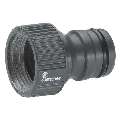 Gardena Profi-System-Hahnstück: Hahnverbinder für Wasserhähne mit 26.5 mm (G 3/4 Zoll)-Gewinde, Hahnanschluss für höheren Wasserdurchfluss (2801-20)