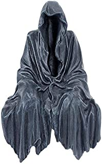 Design Toscano Reaping Solace The Creeper Gothic Decor Shelf Sitting Statue, 8 Inch, Greystone