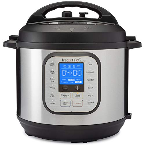 Instant Pot Duo Nova 7-in-1 Electric Pressure Cooker, Slow Cooker, Rice Cooker, Steamer, Saute, Yogurt Maker, Sterilizer, and Warmer, 6 Quart, 14 One-Touch Programs