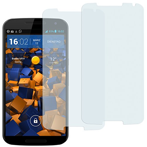 mumbi Schutzfolie kompatibel mit Motorola Google Nexus 6 Folie klar, Bildschirmschutzfolie (2x)