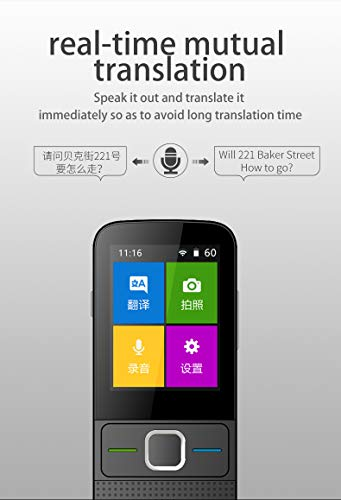 Language Translator Device All Languages 137 Languages WiFi/Hotspot/Offline Two Way Portable Instant Voice Translator for Business Travelling
