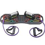 CuteLife Tablero para Flexiones Tablero Plegable De Rack Push- up con Entrenamiento De Cuerda Entrenamiento Deportivo Fitness Equipo De Gimnasio para Gimnasio en Casa Ejercicio