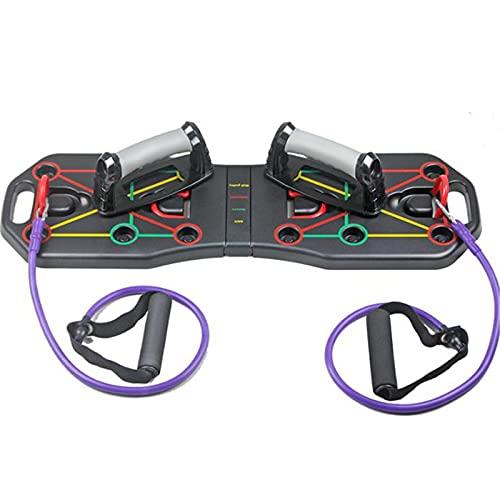 WanuigH Tablero de Flexión Tablero Plegable De Rack Push-up con Entrenamiento De Cuerda Entrenamiento Deportivo Fitness Equipo De Gimnasio Operación Simple (Color : Black, Size : One Size)