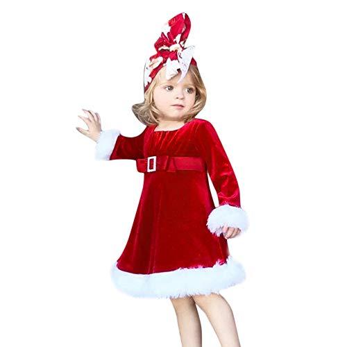 Disfraz Navidad Bebe Niña 1-5 años Franela Vestido de Princesa Ropa Navidad Niñas