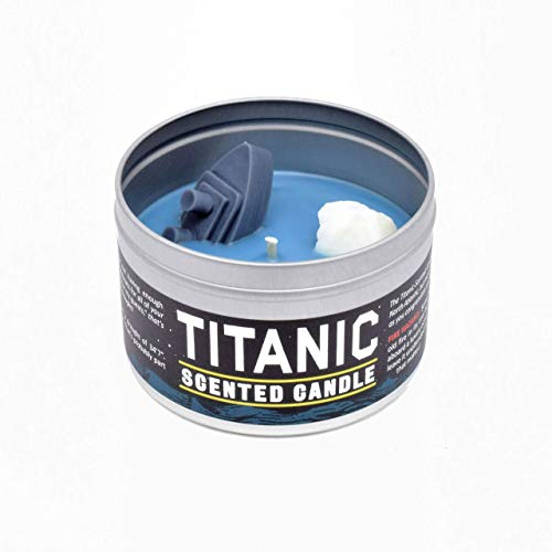 JD and Kate Industries Titanic Scented Candle | Hand-Poured in 16 oz tin | Ocean Scent