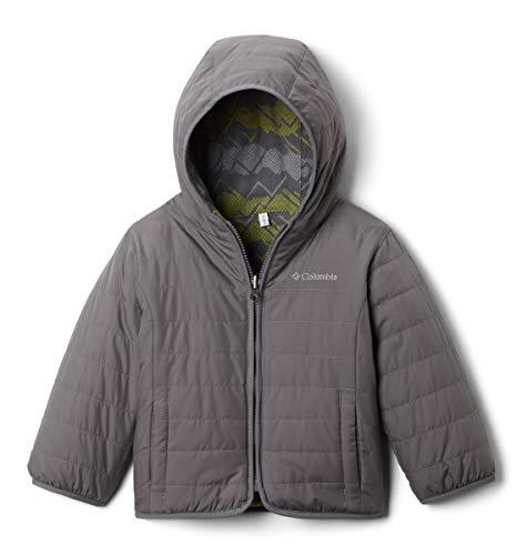 Columbia Chaqueta de invierno reversible para jóvenes, repelente al agua. - gris - 12 -18 meses