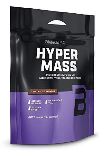 BioTechUSA Hyper Mass Trinkpulver mit Kohlenhydraten, Protein und Kreatin, hohem Ballaststoffgehalt, ohne Zuckerzusatz, 6.8 kg, Schokolade