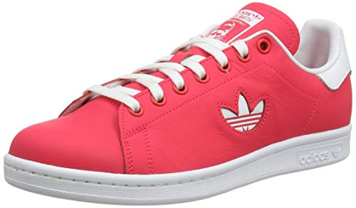 adidas Men's Stan Smith Gymnastics Shoes, Red (Shock red/FTWR White/Shock red Shock red/FTWR White/Shock red), 10 UK