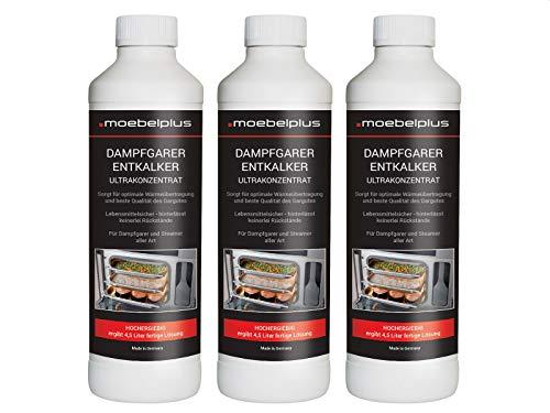 moebelplus Dampfgarer Entkalker - 3er Set Ultrakonzetrat 3x 500 ml Reiniger
