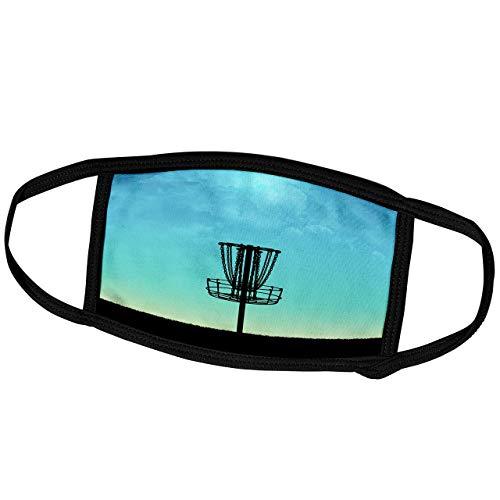 Phil Perkins-Disc Golf-Disc Golfkorb Silhouette-Silhouette Korb auf Gras mit blauen Himmelsmasken