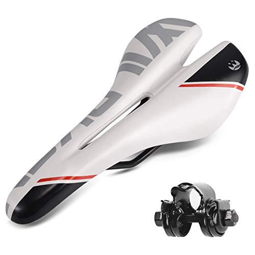 Asvert Rennrad Sattel,Mountainbike Sattel,MTB Sattel,Fahrradsattel Damen,Fahrradsattel Herren,MTB Sattel Herren,Fahrradsattel Leder (M2)