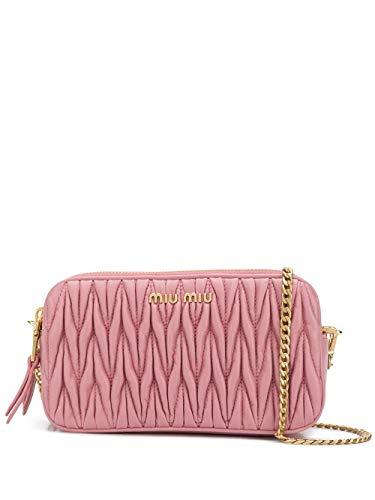 miu miu Luxury Fashion Donna 5DH045N88F0028 Rosa Pelle Borsa A Spalla | Primavera-estate 20